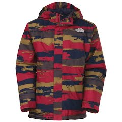The North Face Youth Boy's Insulated Speeder Jacket - Biking Red