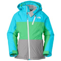 The North Face Youth Girl's Insulated Kizamm Jacket - Tnf White / Dynasty