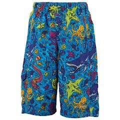 Columbia Boy's Pre - School Wake N Wave Boardshort - Compass Blue