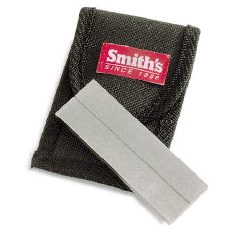 Image of Smith ' S Abrasives 4 Inch Arkansas Stone Knife Sharpener W / Pouch