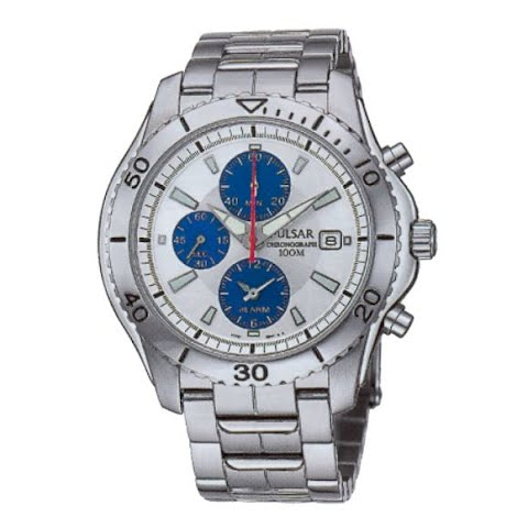 Product image of Pulsar Mens Chronograph Sports Watch - Silver