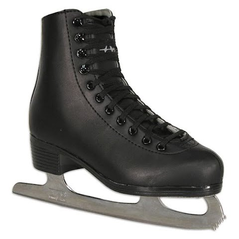Image of American Athletic Boys Youth Figure Skates - Black