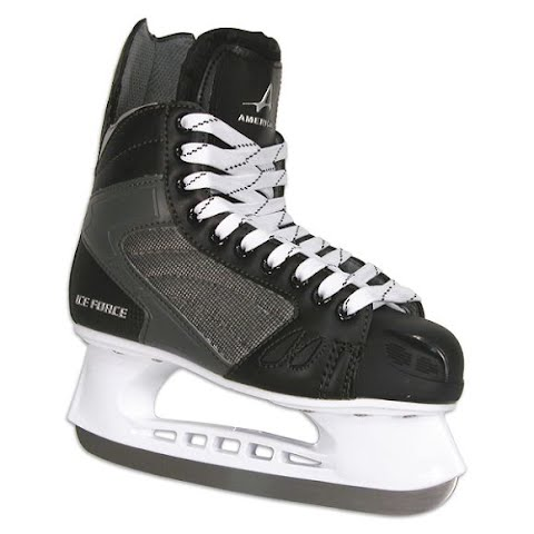 Image of American Athletic Men ' S Ice Force Hockey Skates - Black