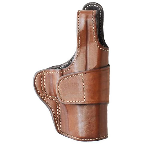 Ross Leather Open Bottom Crossdraw Driving Holster With Thumb Break ( Ruger 85 / 89 / 90 )