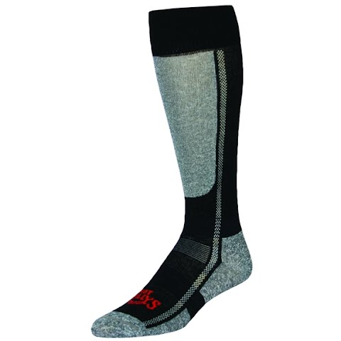 Image of Hot Chillys Men ' S Classic Low Volume Sock - Black / Heather
