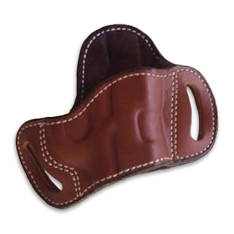 Ross Leather Open Bottom Belt Slide Holster With No Thumb Break