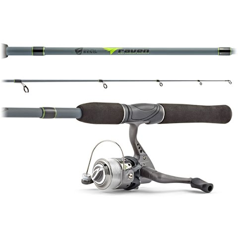South Bend Raven 6ft , 6 – Piece Spinning Travel Combo