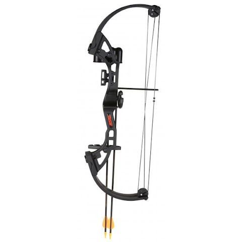 Fred Bear Archery Youth Brave Bow With Whisker Biscuit Arrow Rest – Black