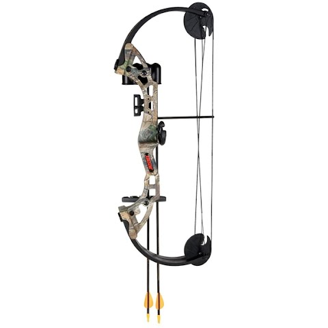 Fred Bear Archery Youth Warrior Bow With Whisker Biscuit Arrow Rest – Camo