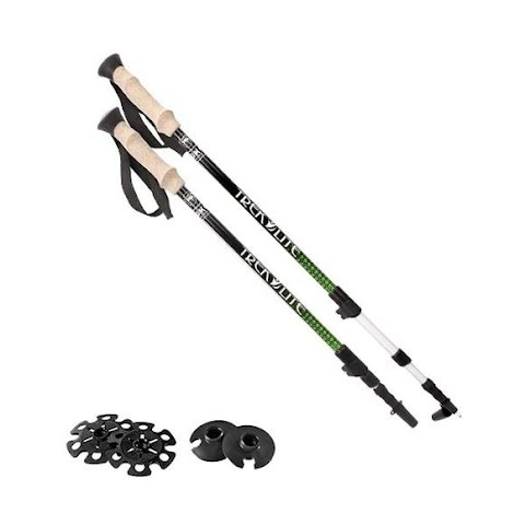 Product image of Yukon Charlie ' S Trek Lite Anti - Shock Trekking Poles - Green