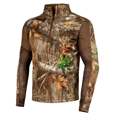 Scent Lok Men ' S Baseslayers Amp Midweight Shirt ( Extended Sizes ) – Realtree Edge