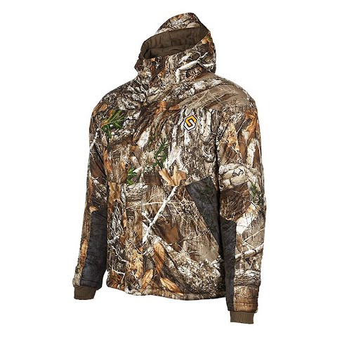 Scent Lok Men ' S Hydrotherm Waterproof Insulated Jacket – Realtree Edge