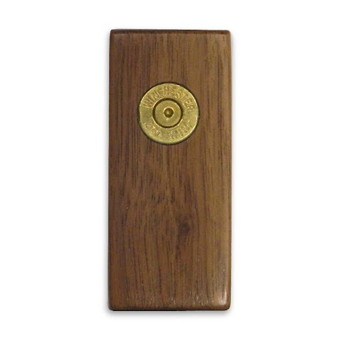 11 Outdoors . 270 Winchester Handcrafted Money Clip Walnut