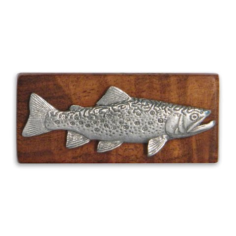 Image of 11 Outdoors Brook Trout Handcrafted Money Clip - Mesquite