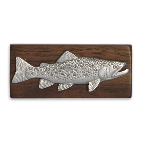 Image of 11 Outdoors Brook Trout Handcrafted Money Clip - Walnut