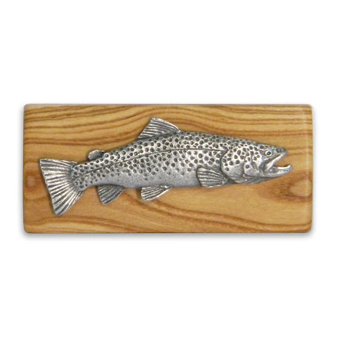 Image of 11 Outdoors Brown Trout Handcrafted Money Clip - Almond