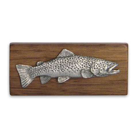 11 Outdoors Brown Trout Handcrafted Money Clip Walnut
