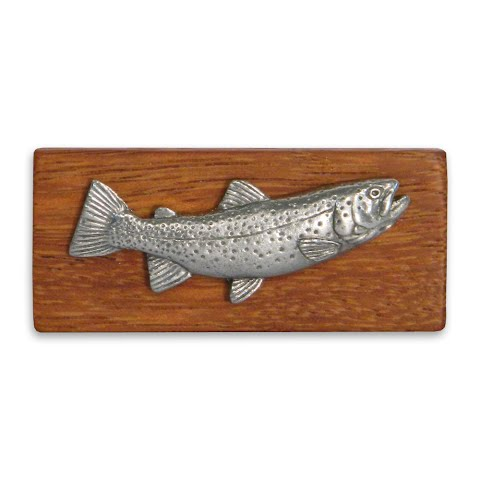 11 Outdoors Cutthroat Trout Handcrafted Money Clip Zebrawood