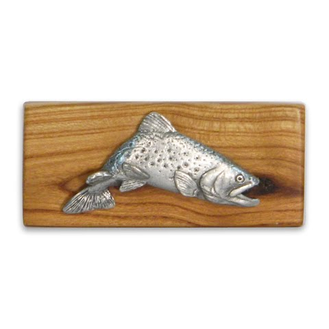 11 Outdoors Jumping Brookie Handcrafted Money Clip Almond