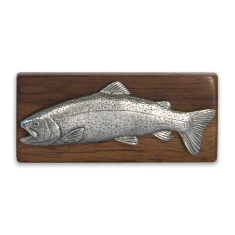 11 Outdoors Rainbow Trout Handcrafted Money Clip Walnut
