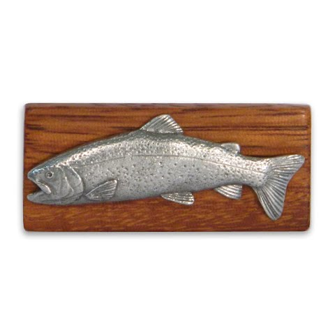 11 Outdoors Rainbow Trout Handcrafted Money Clip Zebrawood