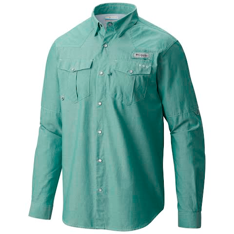 Product image of Columbia Men ' S Pfg Beadhead Oxford Long Sleeve Shirt - Gemstone Oxford