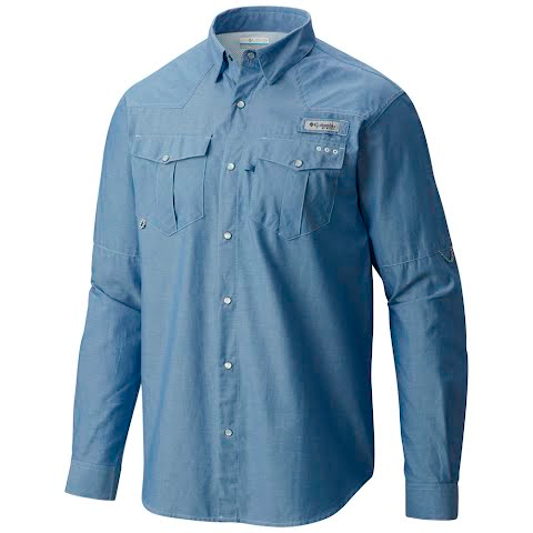 Product image of Columbia Men ' S Pfg Beadhead Oxford Long Sleeve Shirt - Deep Blue Oxford