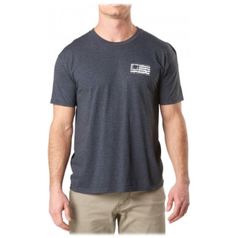 Image of 5 . 11 Tactical Men ' S Brick And Mortar Tee - Charcoal Heather