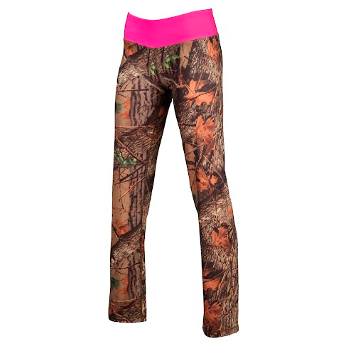 Trail Crest Women ' S Impulse 4 – Way Stretch Leggings – Camo Pink