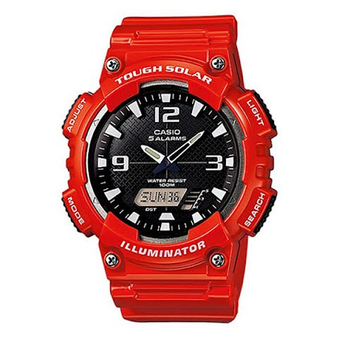 Product image of Casio Solar Powered Sports Watch - Red / Black