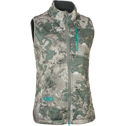 Girls With Guns Women ' S Artemis 3 Layer Softshell Vest – Shade Camo