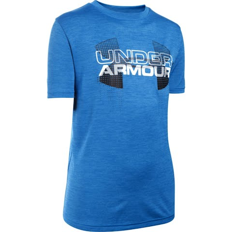 Product image of Under Armour Boy ' S Youth Tech Big Logo Hybrid T - Shirt - Ultra Blue / Black