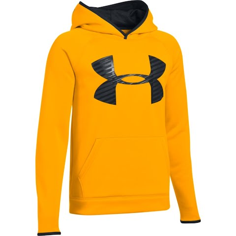 Product image of Under Armour Youth Boy ' S Ua Storm Armour Fleece Highight Big Logo Hoodie - Steeltown Gold