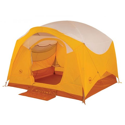 Product image of Big Agnes Big House 4 Deluxe Three Season Tent - Gold / White
