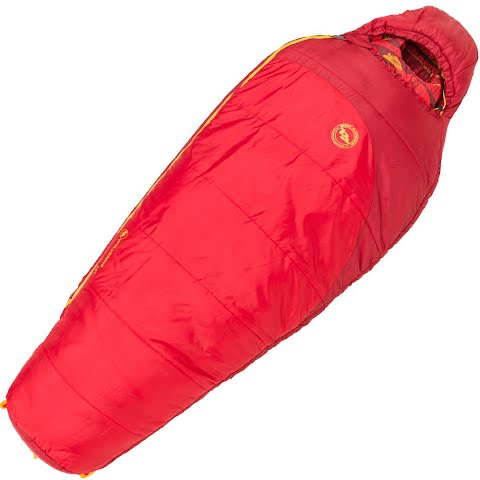 Product image of Big Agnes Youth Wolverine 15 Degree Sleeping Bag - Salsa / Crimson