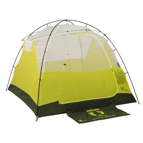 Product image of Big Agnes Gilpin Falls Powerhouse 4 Mtnglo Tent - White / Sulphur