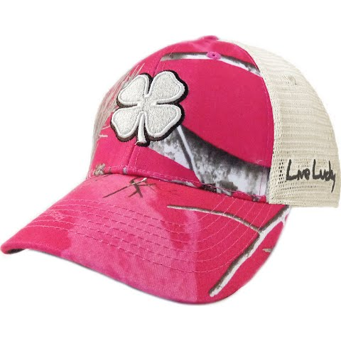 Black Clover Women ' S Hunt Lucky Cap – Stone / Brown / Pink Camo