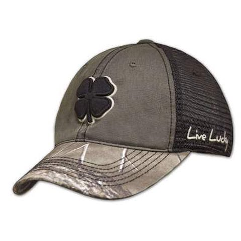 Black Clover Men ' S Hunt Lucky Cap – Black / Stone / Camo