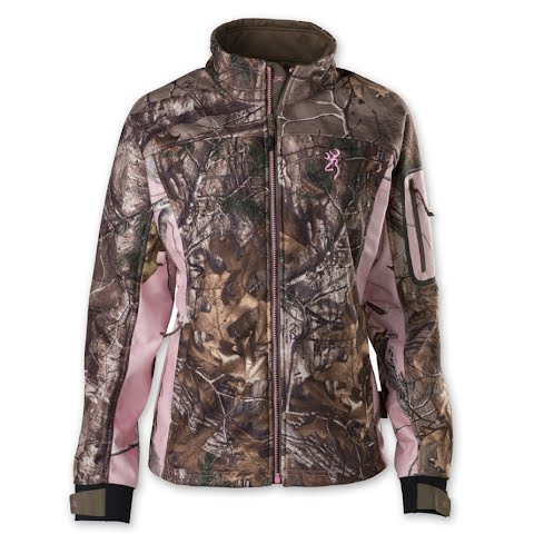 Product image of Browning Women ' S Hell ' S Belles Soft Shell Jacket - Realtree Xtra / Realtree Pink