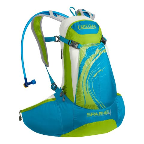 Product image of Camelbak Women's Spark 10 Lr 70oz Hydration Pack - Blue Jewel / Chartreus