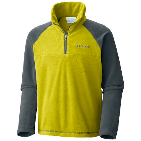 Product image of Columbia Boy ' S Youth Glacial Half Zip - Ginkgo / Graphite
