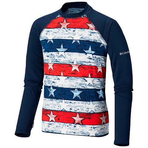Columbia Youth Sandy Shores Printed Long Sleeve