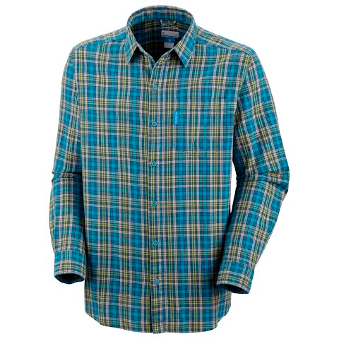 Product image of Columbia Mens Fall Line Long Sleeve Shirt - Compass Blue