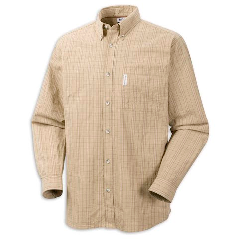 Product image of Columbia Mens Klickitat Trail Plaid Shirt - Natural