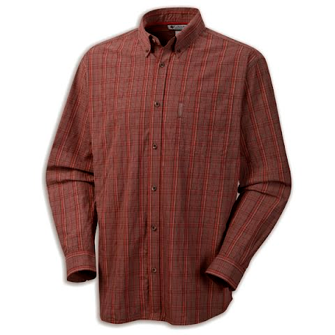 Product image of Columbia Mens Klickitat Trail Plaid Shirt - Red Rover