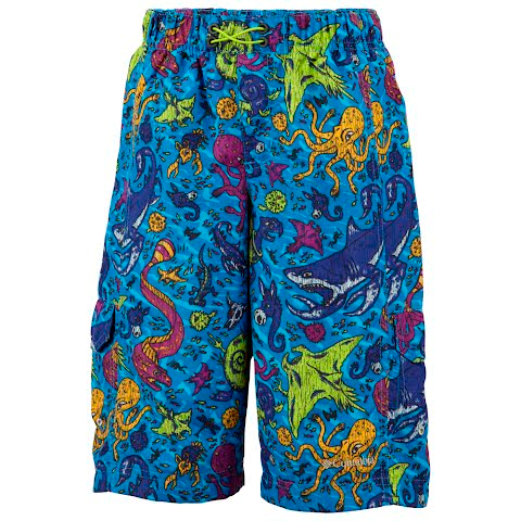 Columbia Boy ' S Pre - School Wake N Wave Boardshort - Compass Blue