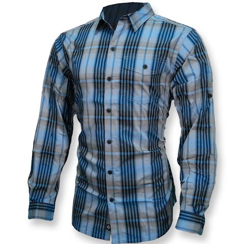Product image of Columbia Mens Utilizer Plaid Long Sleeve Shirt - Compass Blue