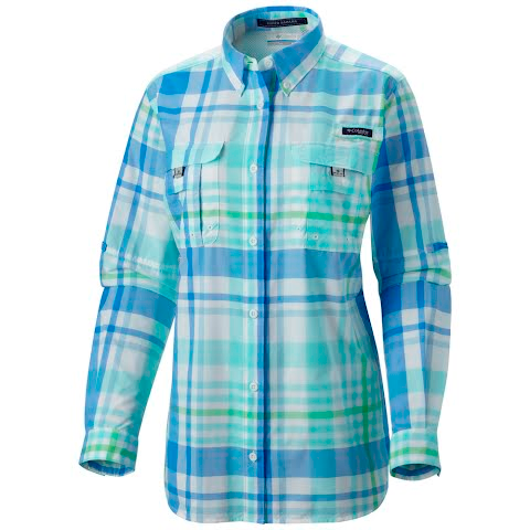 Columbia Women's Super Bahama Long Sleeve Shirt - Harbor Blue