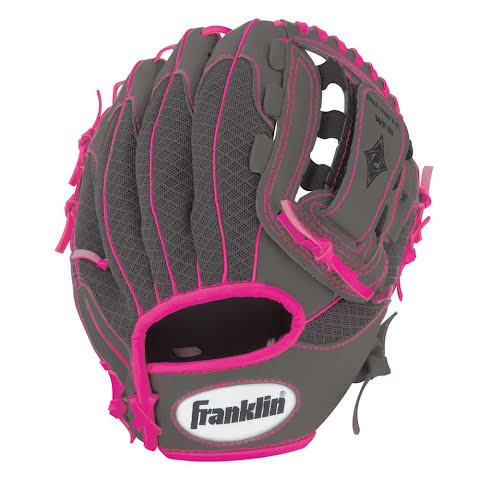Product image of Franklin Youth 10 . 5 In . Infinite Web / Shok - Sorb Teeball Glove ( Graphite / Pink ) - Graphite