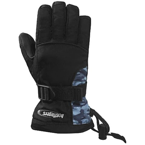 Hot Fingers Youth Rip - N - Go Junior Glove - Black / Camo thumbnail